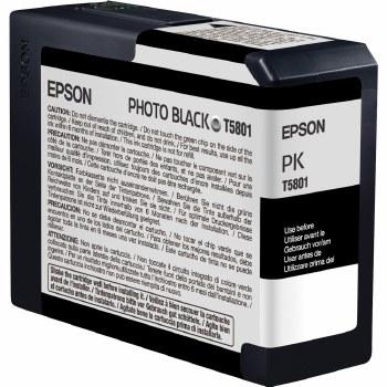 Epson T580 Series Inks T5801 Photo-Black ink