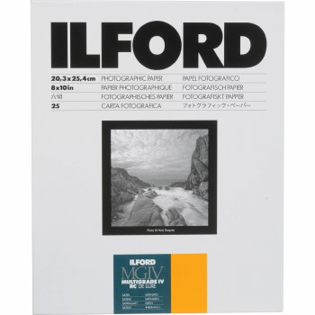"Ilford MGIV RC Deluxe Satin 10 x 8"" 100 Sheets"