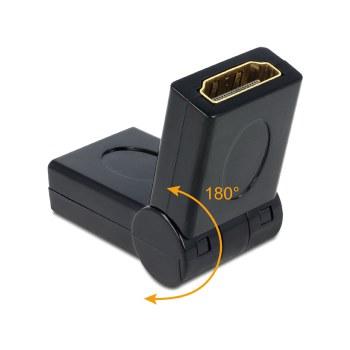 Delock Adapter HDMI female – female 180°