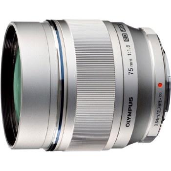 Olympus ED  75mm F1.8 M.Zuiko Silver Lens