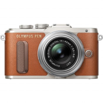 Olympus E-PL9 Brown with ED-M 14-42mm EZ