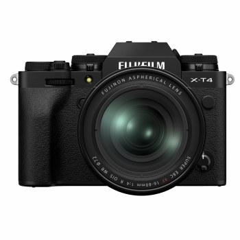 Fujifilm X-T4 Black Camera with XF 16-80mm F4 R OIS WR Lens