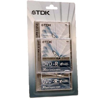 TDK 8cm DVD-R 1.4GB Disc (3 pack)