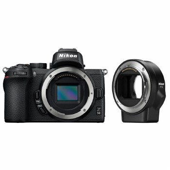 Nikon Z 50 with F to Z Mount Adapter