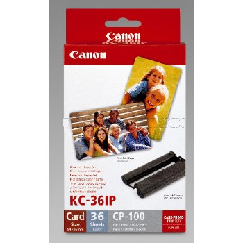 Canon KC-36IP Creditcard Paper & Ink Set for ALL Canon SELPHY Printers