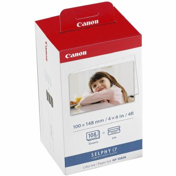 "Canon KP-108IN 6""x4"" Paper & Ink Set for ALL Canon SELPHY Printers"