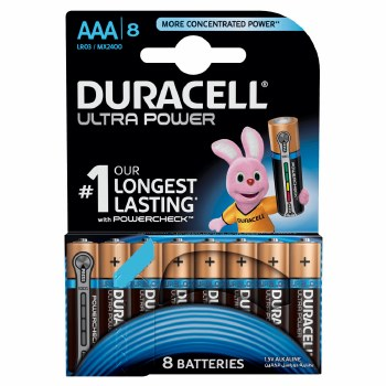 Duracell AAA Ultra Alkaline Pack of 8 LR03