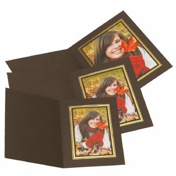 "Kenro  4x6"" / 10x15cm Brown Portrait Photo Folders"