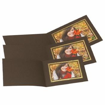 "Kenro  8×10"" / 20x25cm Brown Landscape Photo Folders"