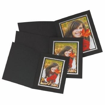 "Kenro  4x6"" / 10x15cm Black Portrait Photo Folders"