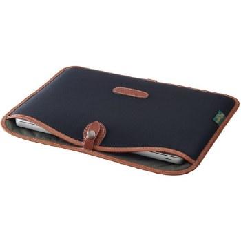 "Billingham 13"" Laptop Slip (Black Canvas / Tan Leather)"