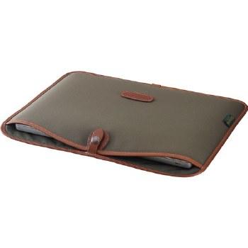 """Billingham 15"""" Laptop Slip (Sage FibreNyte / Tan Leather)"""