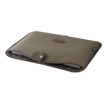 "Billingham 13"" Laptop Slip (Sage FibreNyte / Chocolate Leather)"