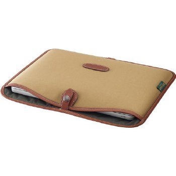 "Billingham 13"" Laptop Slip (Khaki FibreNyte / Chocolate Leather)"