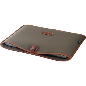 "Billingham 15"" Laptop Slip (Sage FibreNyte / Chocolate Leather)"
