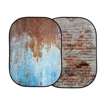 Lastolite LL LB5713 Urban Collapsible 1.5 x 2.1M Rusty Metal/Plaster Wall