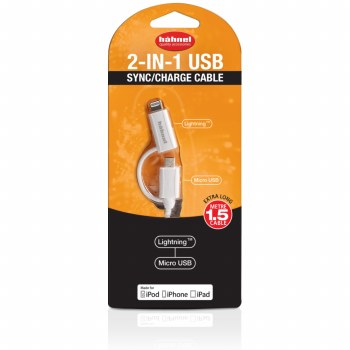 Hahnel 2 In 1 USB Sync Charge Cable