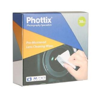 Phottix Pre-Moistened Lens Cleaning Wipes