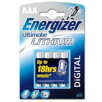 Energizer AAA Lithium Batteries (4 Pack)