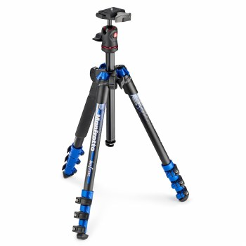Manfrotto BeFree Color Aluminium Travel Tripod Kit Blue