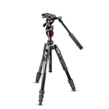 Mafrotto Befree Live Aluminium Tripod Kit With Twist-lock Legs & 2-Way Video Head (Black)