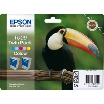Epson Twin Pack Colour Ink Cartridge T009