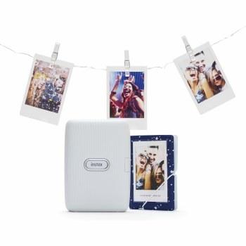 Fujifilm Instax Ash White Mini Link Printer Bundle