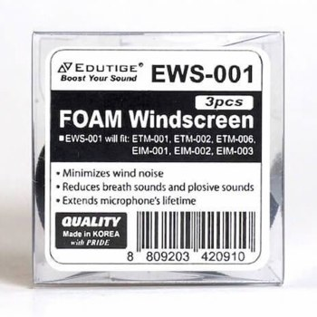 Edutige EWS-001 Replacement Foam Windscreen