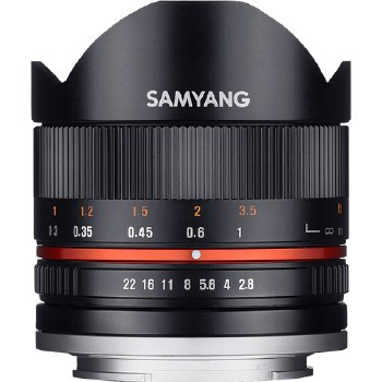 Samyang   8mm F2.8 UMC Fisheye Black For Sony E-mount