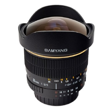 Samyang 8mm F3.5 Aspherical IF MC Fisheye For Canon EF