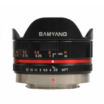 Samyang AE 7.5mm F3.5 Fisheye Black For Micro 4:3