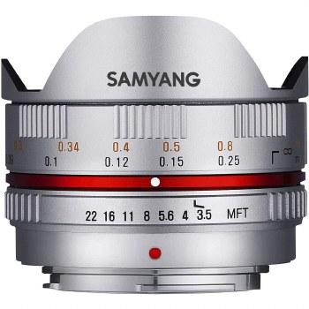 Samyang AE 7.5mm F3.5 Fisheye Silver For Micro 4:3