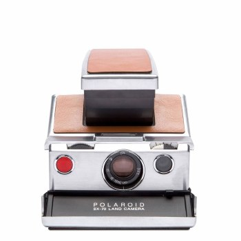 Polaroid SX-70 Camera Silver/Brown