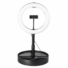 Hama SpotLight FoldUp 102 LED Ring Light for Smartphones, Foldable, 10.2""