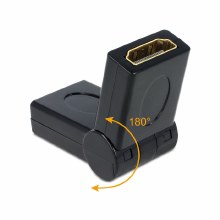 Delock Adapter HDMI female – female 180°