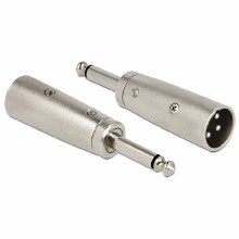 Delock Adapter XLR Male To 6.35mm Stereo Plug Mono