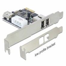 Delock PCI Express Card To 2 x External / 1 x Internal FireWire A