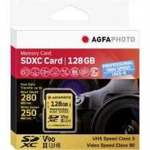 AgfaPhoto SDXC UHS II 128GB Professional High Speed U3 V90 Memory Card