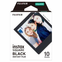 Fujifilm Instax Square Colour Film with Black Frame