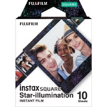 Fujifilm Instax Square Colour Film with Star Frame