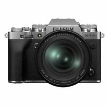 Fujifilm X-T4 Silver Camera with XF 16-80mm F4 R OIS WR Lens