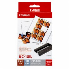 Canon KC-18IL Mini Stickers Label & Ink Set for ALL Canon SELPHY Printers