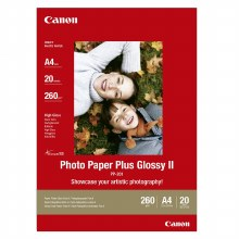 "Canon PP-201 Photo Paper Plus Glossy II 5X7"" 20 Sheets"