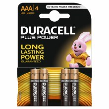 "Duracell Plus MN2400 ""AAA"" Battery (4 Pack)"