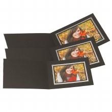 "Kenro  6×4"" / 10x15cm Black Landscape Photo Folders"