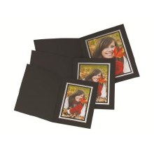 "Kenro  8×6"" / 20x15cm Black Landscape Photo Folders"
