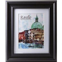 Kenro Ravello 10x12/Mount 8x12 Matt Black Photo Frame