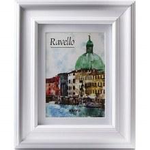 """Kenro Ravello  6x4"""" / 15x10cm White Photo Frame (8×6"""" / 20x15cm without Matt)"""