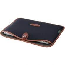 "Billingham 13"" Laptop Slip (Black Canvas / Tan Leather)"