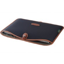 "Billingham 15"" Laptop Slip (Black Canvas / Tan Leather)"